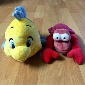 Disney Flounder and Sebastian Plushies 🐠🦞